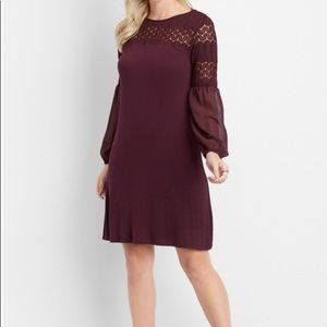 Long Sleeve Crochet Top Dress from Maurices